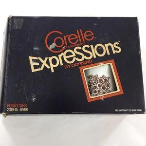 Corelle Expressions Batik Set of 4 Coffee Cups
